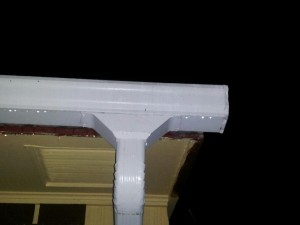 Wide mount Rain gutter down spout